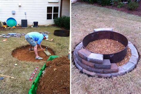 39 Easy To Do Diy Fire Pit Ideas Auto Spray Paint In A Can Od Painting Over Cans For Cars Too Cold To Radiators With Glow The Dark Leather Shoe
