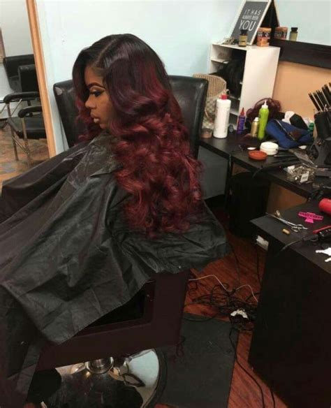 Sew In Prom Hairstyles by Best 25 Colored Weave Hairstyles Ideas On