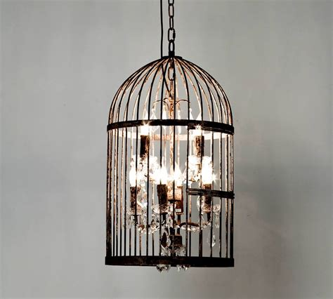 retro candle lighting iron birdcage