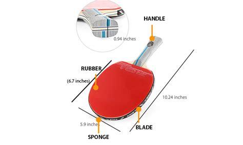table tennis racket size bruin blog