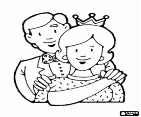 coloriage maman avec papa la m 232 re est la reine de la