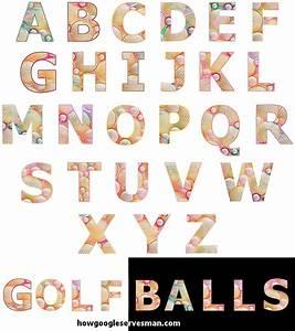 cut copy paste golf balls alphabet letters fonts by With golf alphabet letters