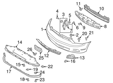 Oem Ford Mustang Bumper Components Front Parts