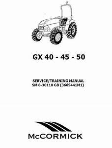 Mccormick Gx40 Gx45 Gx50 Tractors Service Manual Pdf
