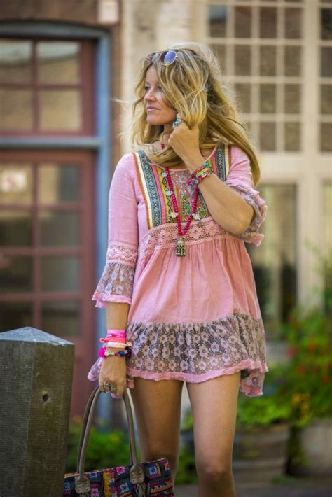 perfect hippie chic style   hot summer day