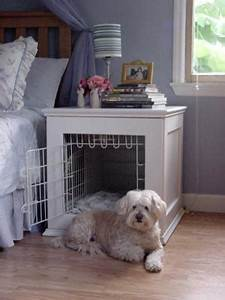 cool creative way to design dog beds wooftalk With dog crate bedside table