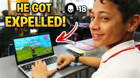 kids caught playing fortnite  school youtube