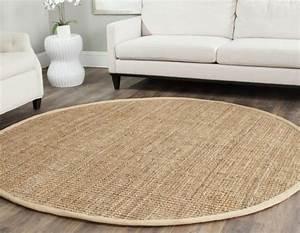 tapis sisal pour le salon contemporain conseils et photos With tapis rond moderne