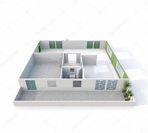 Maison Sans Toit : rendu 3d d int rieur d appartement maison sans toit vide ~ Farleysfitness.com Idées de Décoration