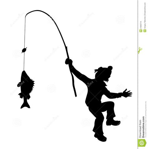 fisherman silhouette vector vector silhouette fisherman stock vector illustration of