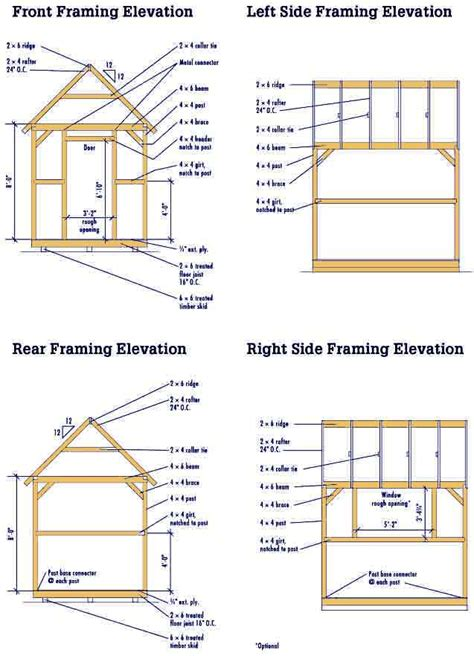 shed plans 8x10 free gable shed blueprints 8 215 10 plans for a diy garden shed