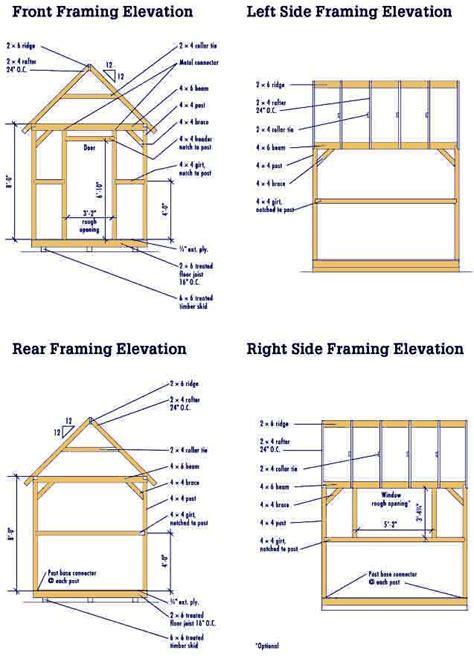 gable shed blueprints  plans   diy garden shed