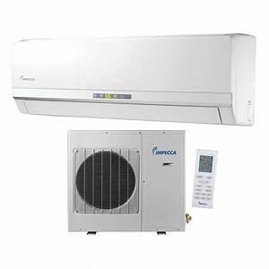 12 000 Btu Ductless Heat  U0026 Cool Indoor  U0026 Outdoor Wall