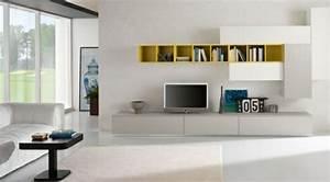 Meuble De Rangement Salon : meubles de salon 96 id es pour l 39 int rieur moderne en photos ~ Teatrodelosmanantiales.com Idées de Décoration