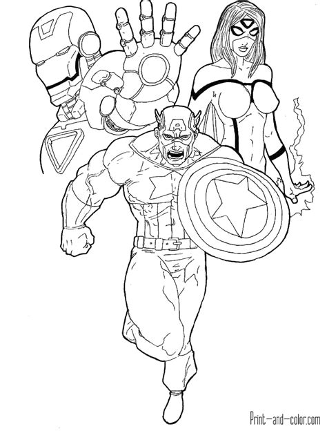avengers coloring pages print  colorcom