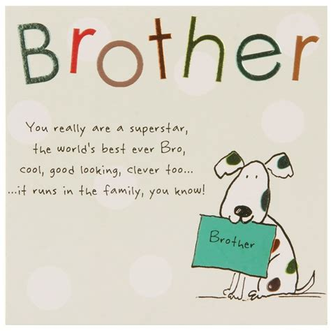 Brother Birthday Card Quotes