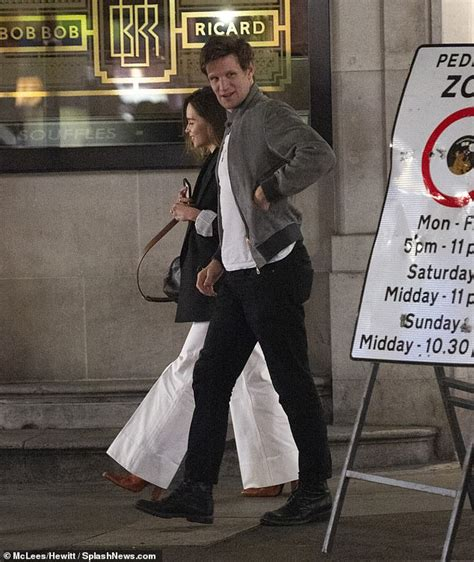 Matt Smith enjoys a night out in London with Emilia Clarke ...