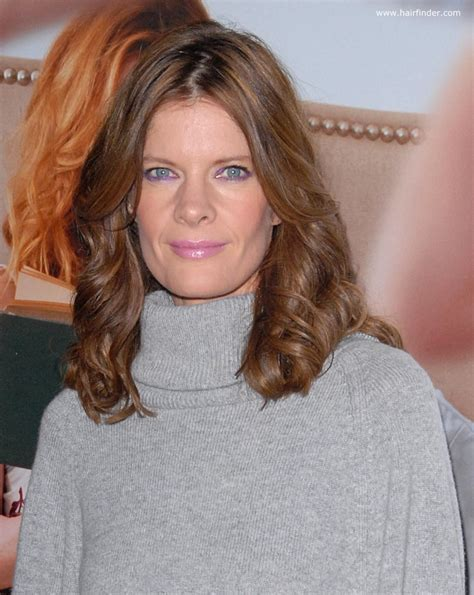 Michelle Stafford   Youthful long and sweeping hairstyle