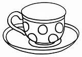 Tea Coloring sketch template
