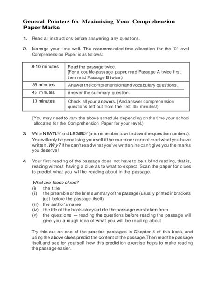 general guide   level comprehension