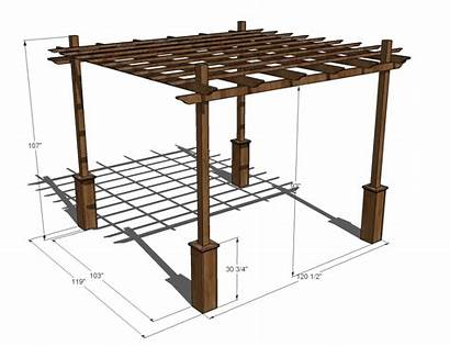 Pergola Ana Dimensions Weatherly Plans Diy Build