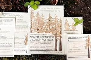 51 best wedding invitations images on pinterest With redwood tree wedding invitations