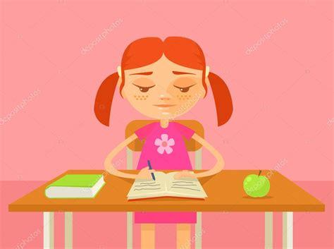 imagenes para decorar una tarea tarea de hacer de ni 241 a ilustraci 243 n de dibujos animados