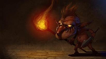 Goblin Wallpapers Warrior Background Cave Wallpapercave Creature