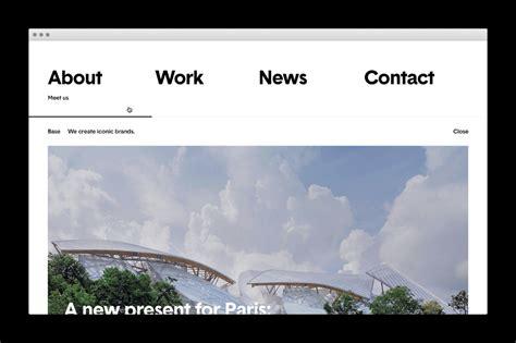minimalist web design inspiration base studios