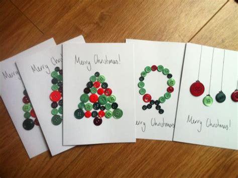 christmas card craft ks2 button craft cards