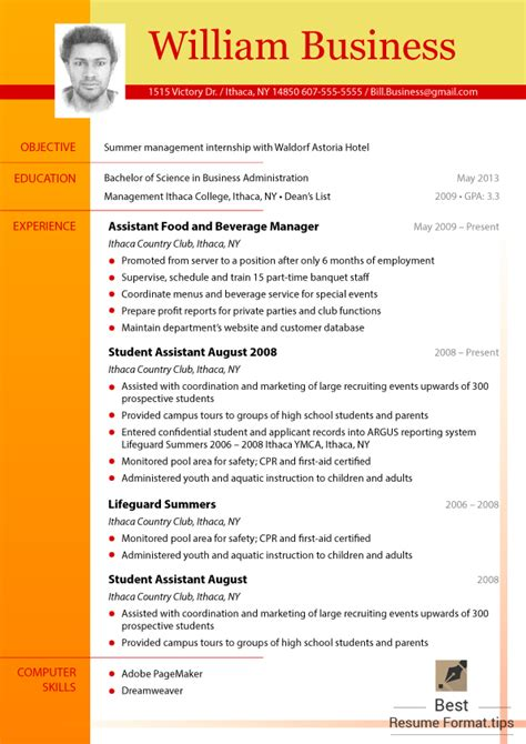 Most Recent Resume Format 2016 by Great Cv Formats 2016 You Should Try Best Resume Format