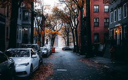 Street Autumn 4k Background Ultra Cars 1080p