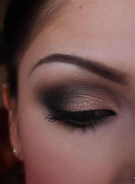 black  shimmery nude smokey eye part  youtube