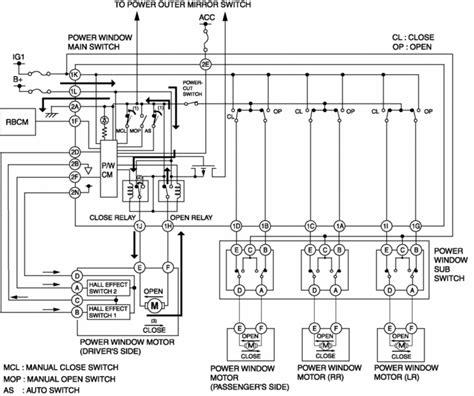 Mazda Service Repair Manual Power Window System