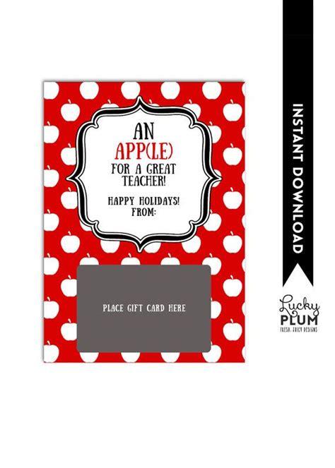 itunes gift card holder teacher thank you card apple