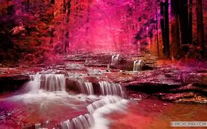 Colorful, Waterfall, Wallpapers
