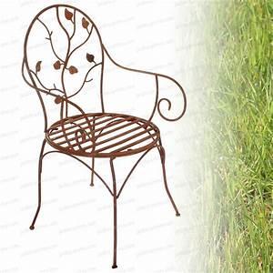 Chaise Fer Forgé : chaise fleurs en fer forg mobilier de jardin ~ Teatrodelosmanantiales.com Idées de Décoration