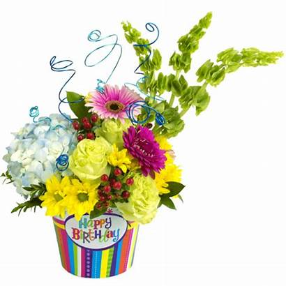 Birthday Flowers Happy Flower Bouquet Celebration Clipart