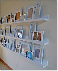 how to build wall shelves Easy DIY Picture Shelf