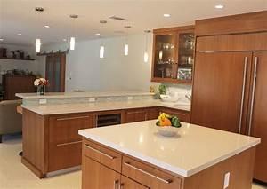 cuisine cuisine grise plan de travail bois avec rouge With cuisine grise plan de travail bois