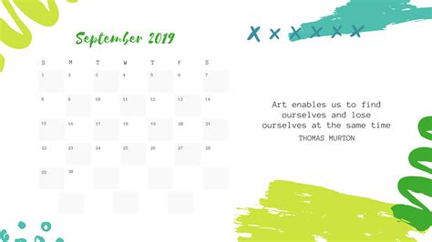 september  calendar cute  holidays