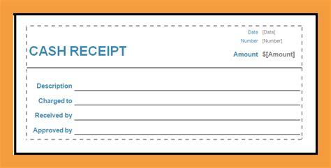 free downloadable cash receipts