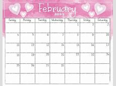 Get Free Printable February 2019 Calendar with Holidays