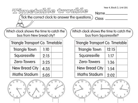times a year 4 time worksheet