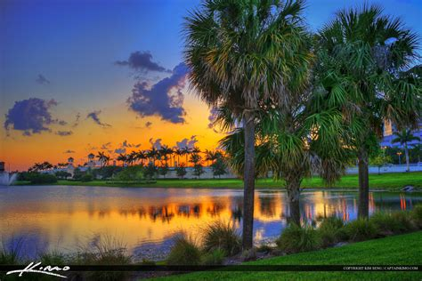Palm Beach Gardens Sunset at City Lake