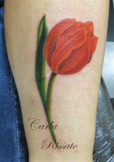 tulip tattoo  leg