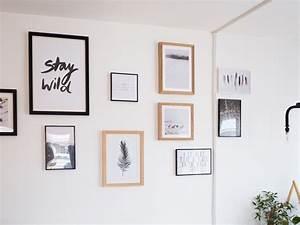 Accrocher Un Tableau Sans Trou : diy un mur de cadres sans percer with accrocher un cadre ~ Premium-room.com Idées de Décoration