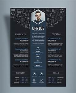 free creative resume cv designtemplate psd file good With creative resume design templates