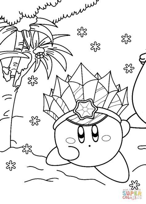 ice kirby coloring page  printable coloring pages