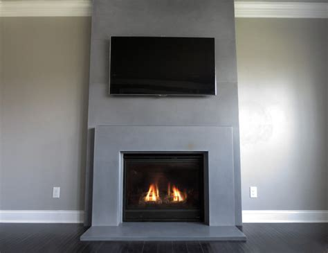 fireplace surround contemporary family room  york